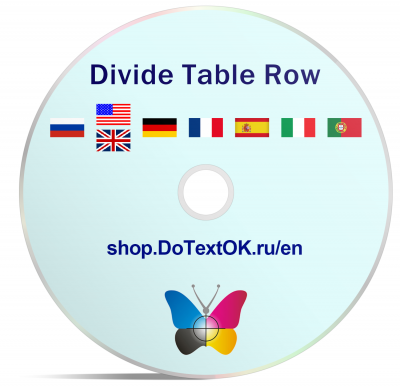 Divide Table Row